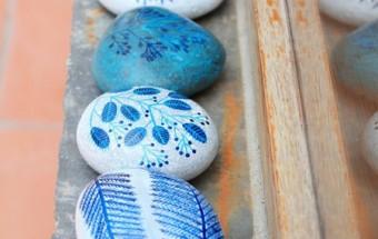 çakıl taşlarını boyamak