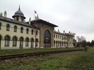 Edirne Garı, bugün Trakya Üniversitesi Güzel Sanatlar Fakültesi